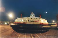 The SRN4 with Hoverspeed in Dover with a new livery - The Princess Margaret (GH-2006) hovering at Dover (Pat Lawrence).